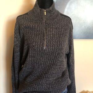 CALVIN KLEIN black and grey sweater